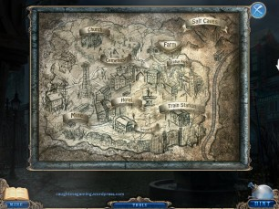 Useless map. I mean it gives the layout of the town, but no zooming in.