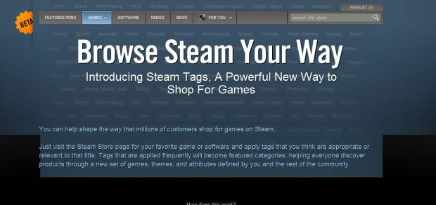 Steam tags CMG