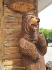 The carved bear that greeted us at the restaurant's entrance.
